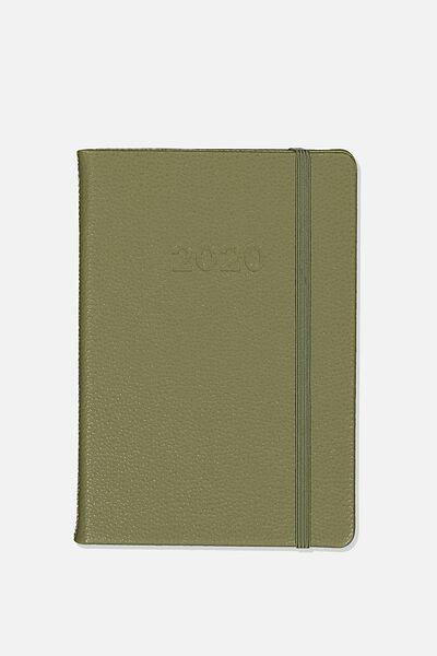 2020 A5 Daily Buffalo Diary, KHAKI