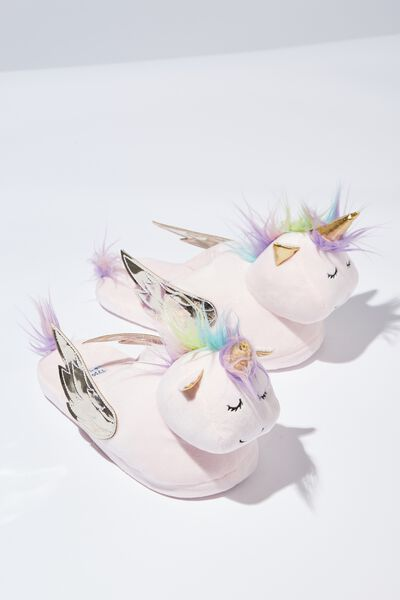 Novelty Slippers, MULTI UNICORN