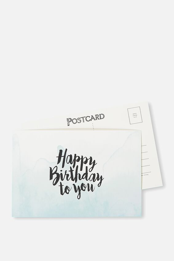 Postcard, HAPPY BIRTHDAY