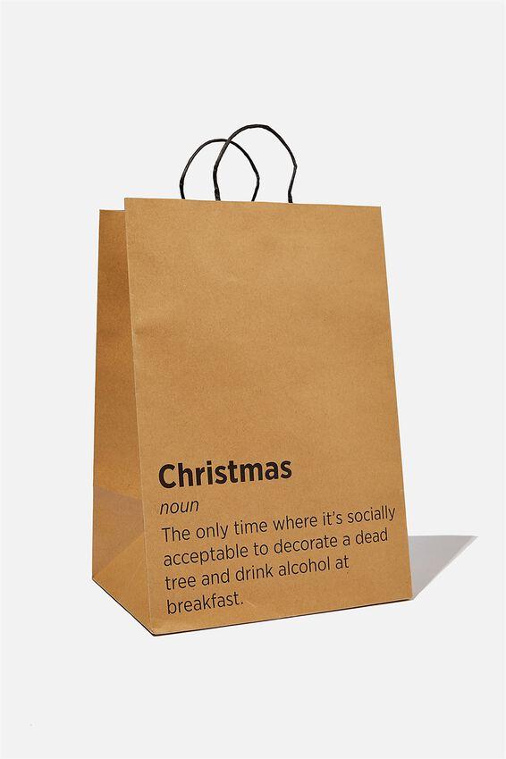 Get Stuffed Gift Bag - Large, CHRISTMAS NOUN