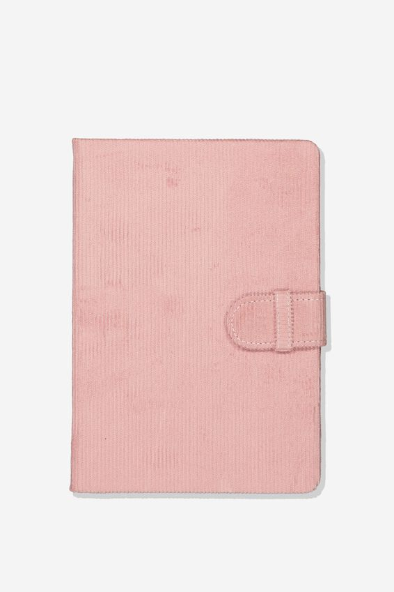 A5 Note Taker Dot Journal, DUSTY ROSE CORD