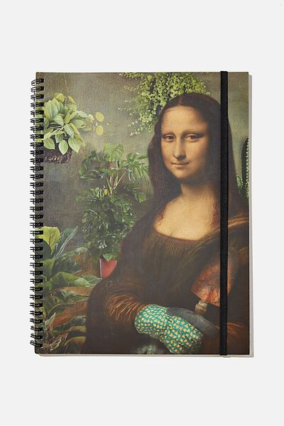 A4 Spinout Notebook Recycled, MONA GARDENING