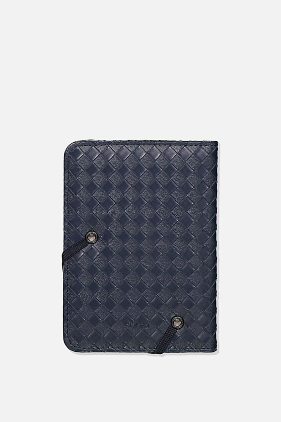 Rfid Passport Holder, NAVY WEAVE