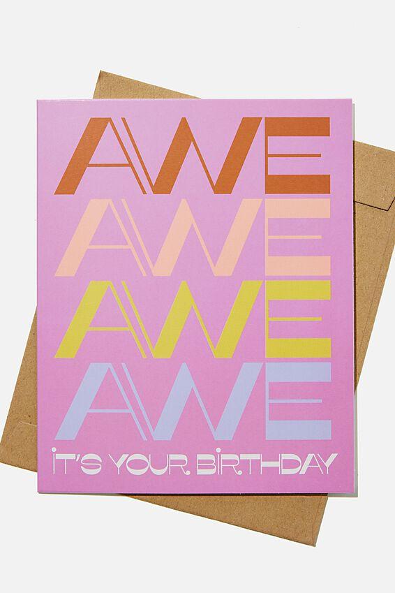 Nice Birthday Card, RG SAF AWE AWE BIRTHDAY