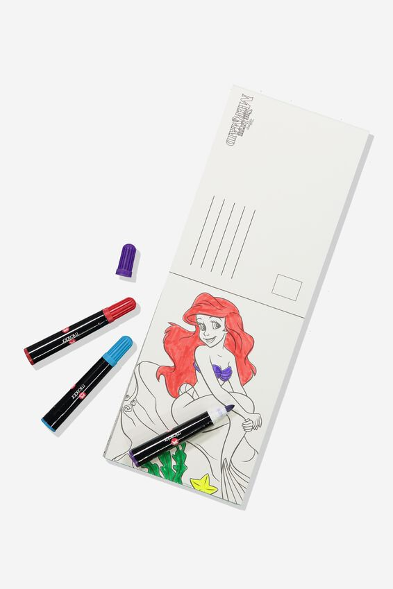 Disney Post Card Colouring Book, LCN DIS THE LITTLE MERMAID