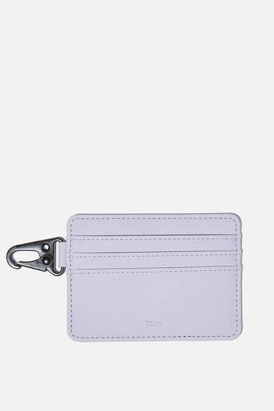 Card Holder, PALE LILAC KIND HUMAN