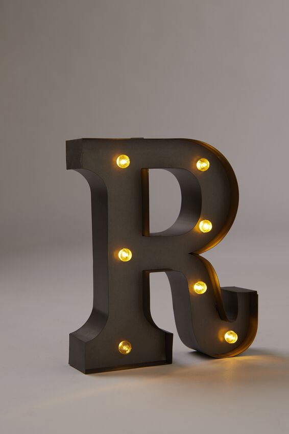 Midi Marquee Letter Lights 6.3inch, SILVER R