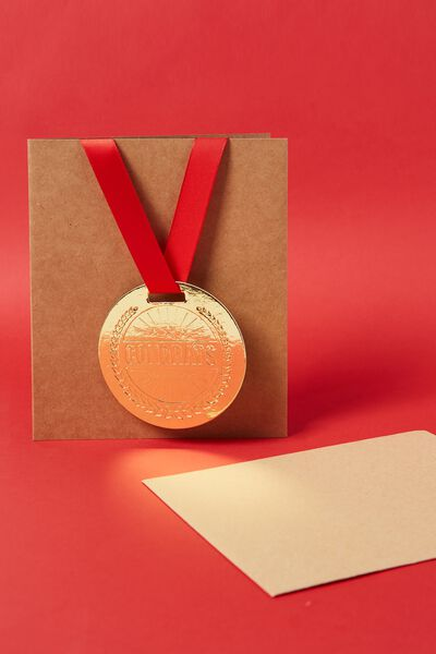 Congratulations Card, MEDAL