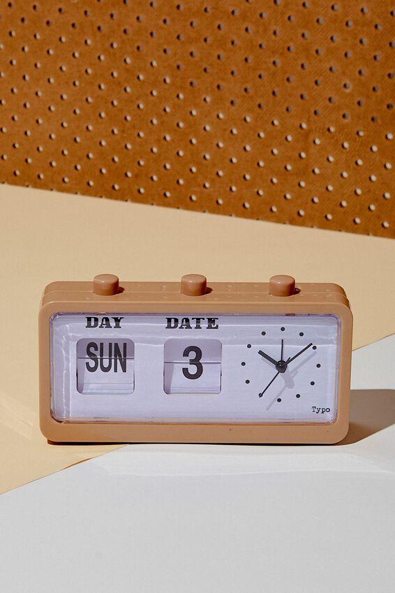 Retro Flip Clock, DRIFTWOOD