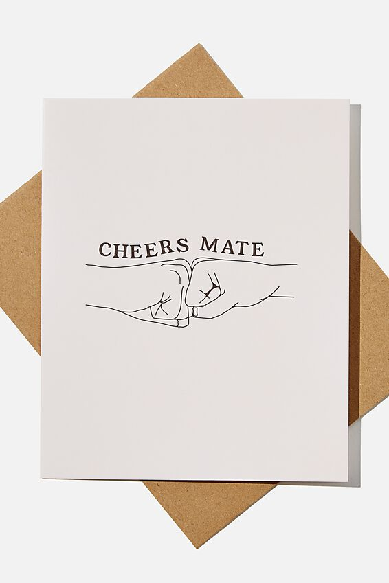 Thank You Card, RG UK CHEERS MATE