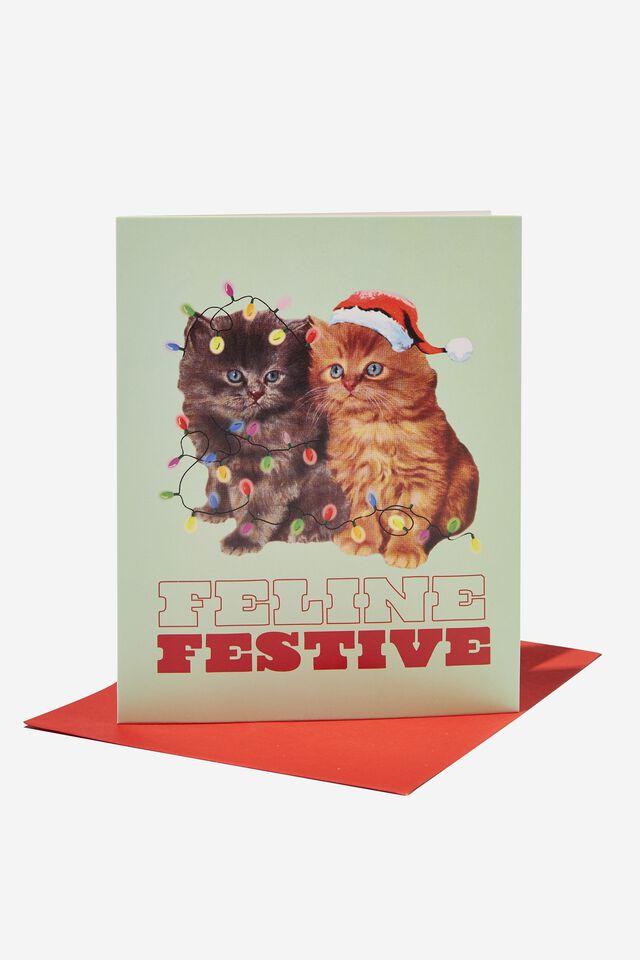 Christmas Card 2021, FELINE FESTIVE CATS