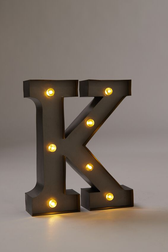 Midi Marquee Letter Lights 16cm, SILVER K