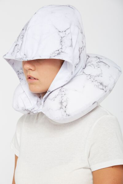 Hooded Neck Pillow, MARBLE