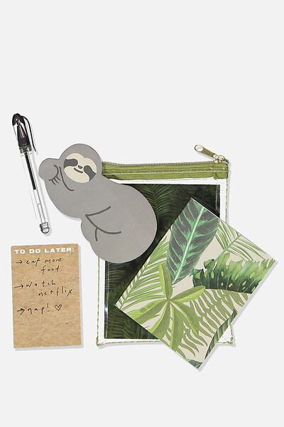 Mini Memo Set, FERN SLOTH