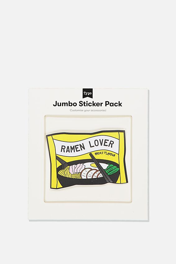Jumbo Sticker, RAMEN LOVER