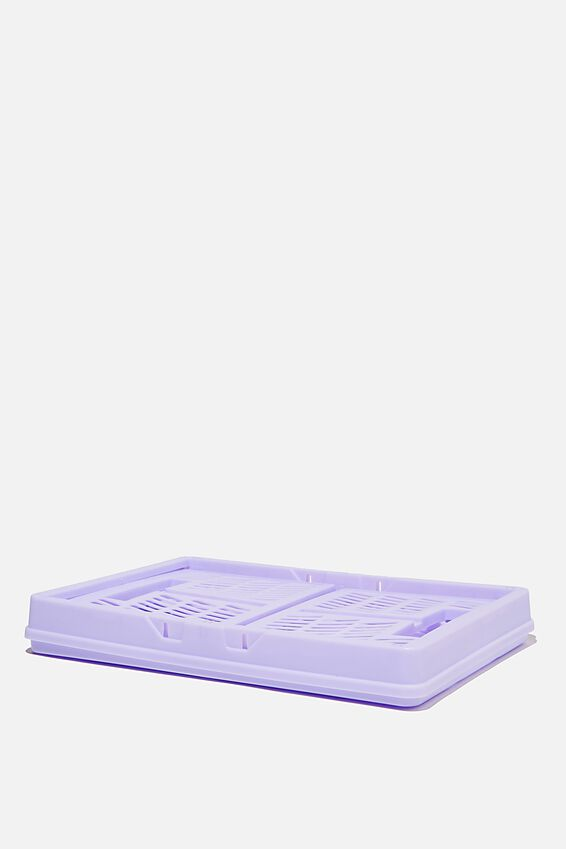 Midi Foldable Storage Crate, PALE LILAC