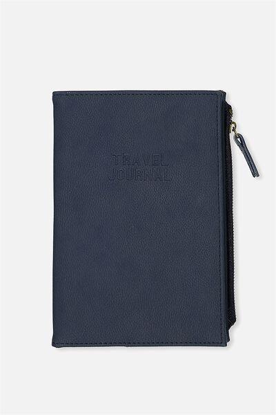 Travel Zip Journal, NAVY
