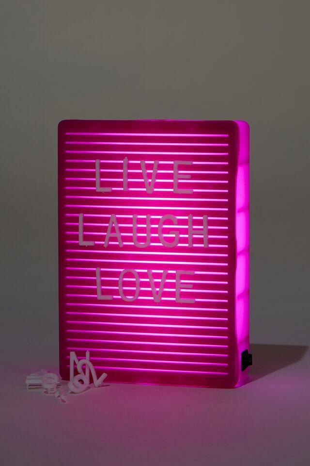 Micro Light Box, MAGENTA PEGBOARD