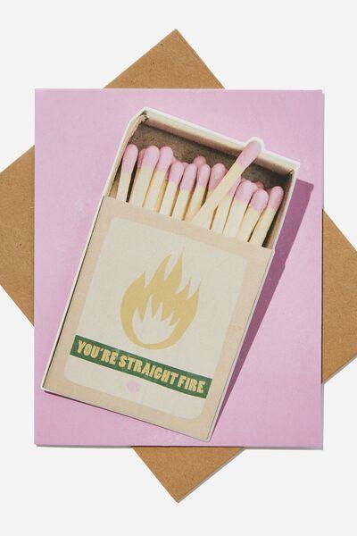 Premium Love Card, EMBELLISHED STRAIGHT FIRE MATCHBOX