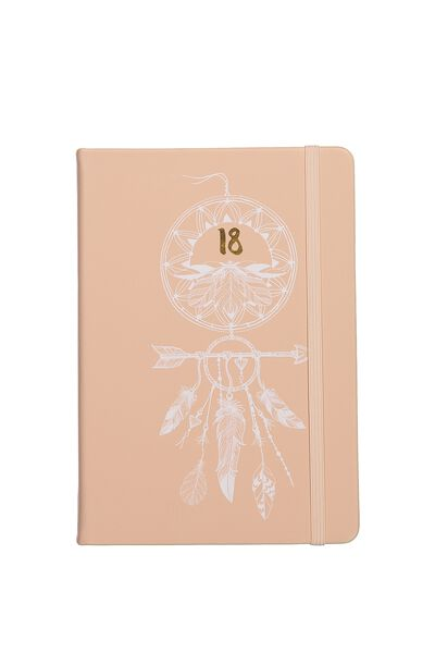 2018 A5 Daily Buffalo Diary, PINK DREAMCATCHER