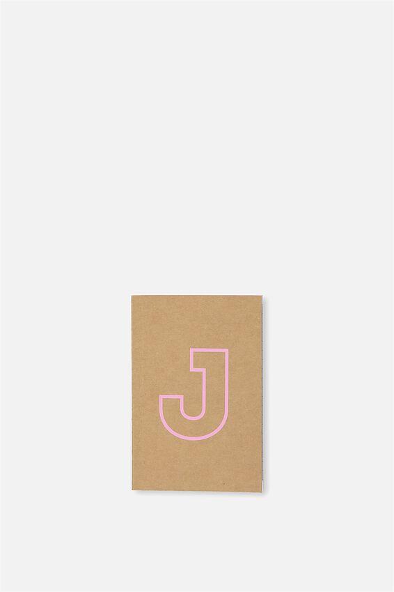 Initial Notebook Set, J - PINK