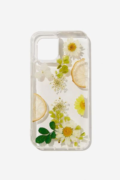 Protective Phone Case Iphone 12, 12 Pro, TRAPPED LEMON DAISY