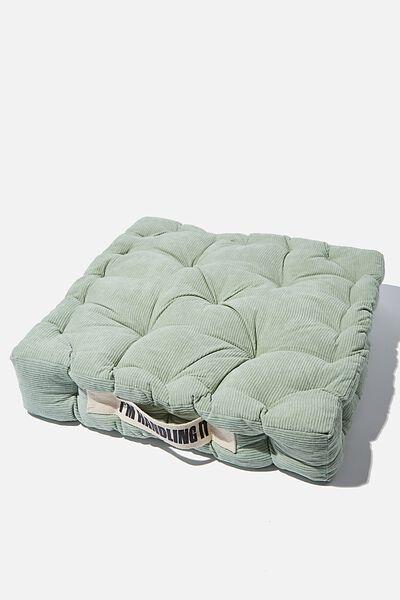 Floor Cushion, GUM LEAF CORDUROY