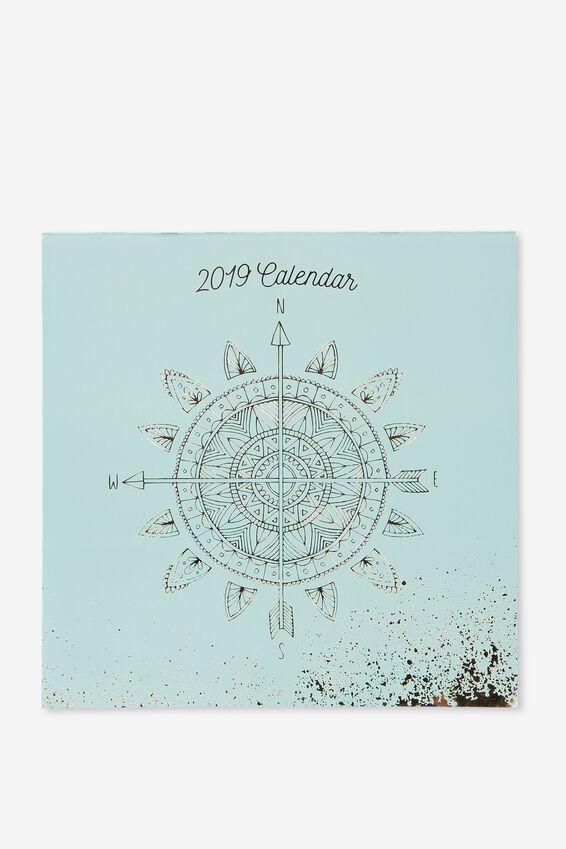Boho Calendar 2019, BOHO