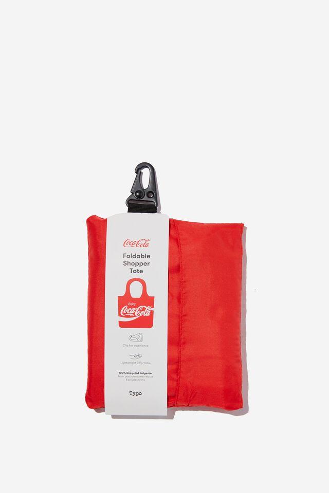Coca Cola Foldable Shopper Tote Bag, LCN COK COCA COLA