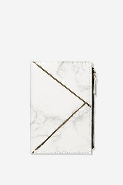 Travel Zip Journal, MARBLE