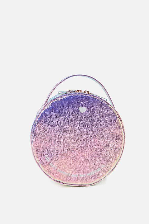 Round Cosmetic Case, IRIDESCENT