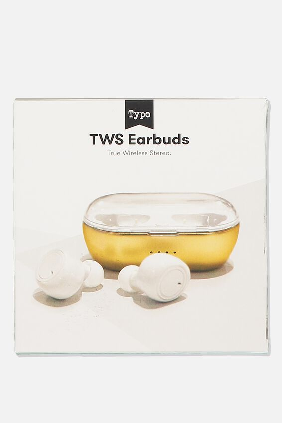Tws Earbuds, GOLD & WHITE