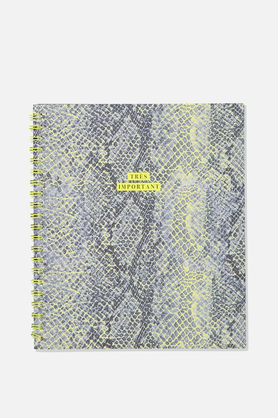 College Ruled Campus Notebook - V, SNAKESKIN TRES IMPORTANT