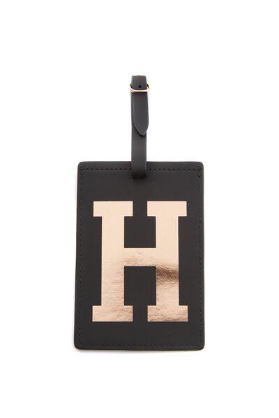 Alphabet Luggage Tag, H
