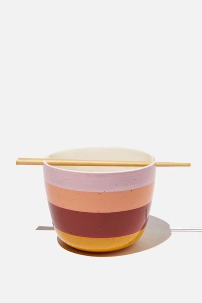 Noodle Bowl, SPECKLED STRIPE
