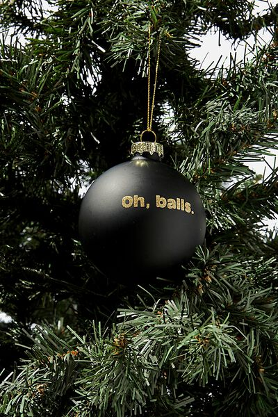 Small Glass Christmas Ornament, BAUBLE OH BALLS