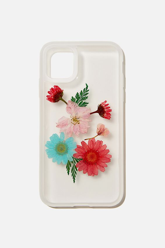 Protective Phone Case iPhone 11, TRAPPED FLORAL & FERN