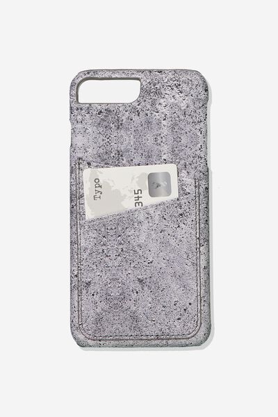 The Cardholder Phone Cover 6,7,8 Plus, CONCRETE