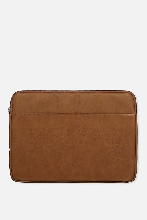 Take Charge 15 Inch Laptop Cover, MID TAN FLORAL