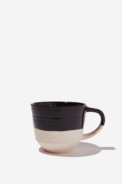 Oversized Mug, BLACK