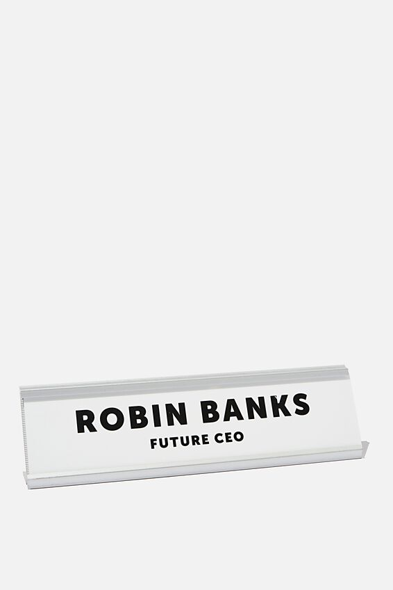 Personalised Desk Sign, SILVER