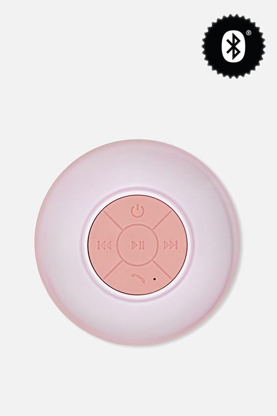 Waterproof Bluetooth Shower Speaker, PINK PEARL
