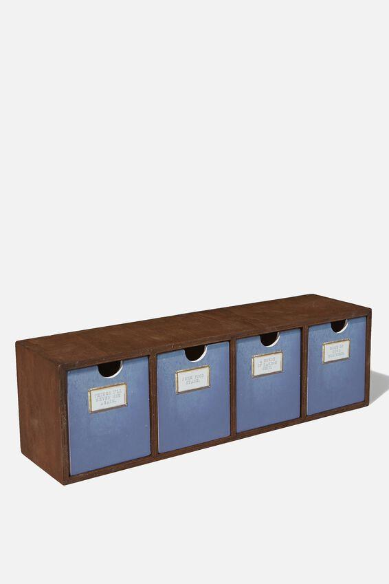 Quick Desk Drawer Storage, DARKWOOD