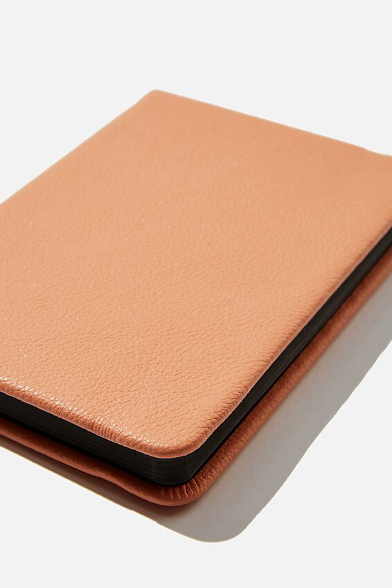 A6 Buffalo Dot Journal, PEACH