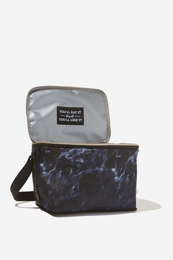 Cooler Lunch Bag, BLACK MARBLE
