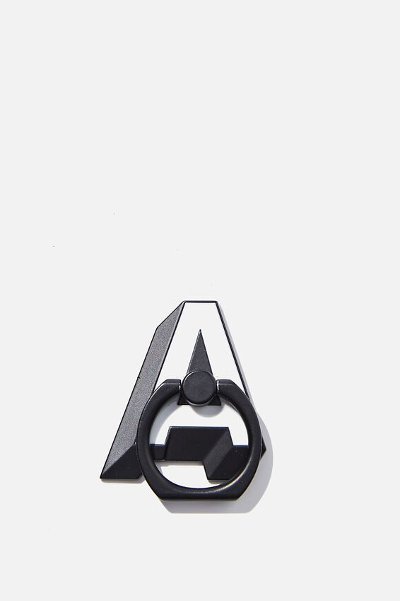 Metal Alpha Phone Ring, SHAPED A