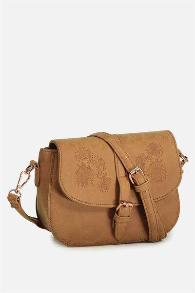Mini Saddle Bag, MID TAN SUNFLOWER