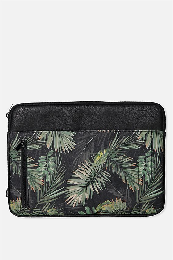 "Take Charge Laptop Cover 15"", JUNGLE LEAVES"
