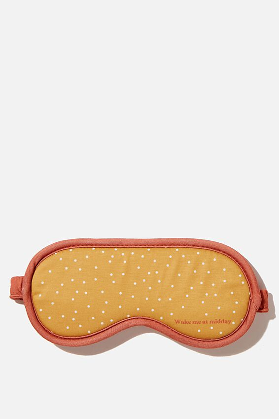 Premium Sleep Eye Mask, MUSTARD MICRO SPOT