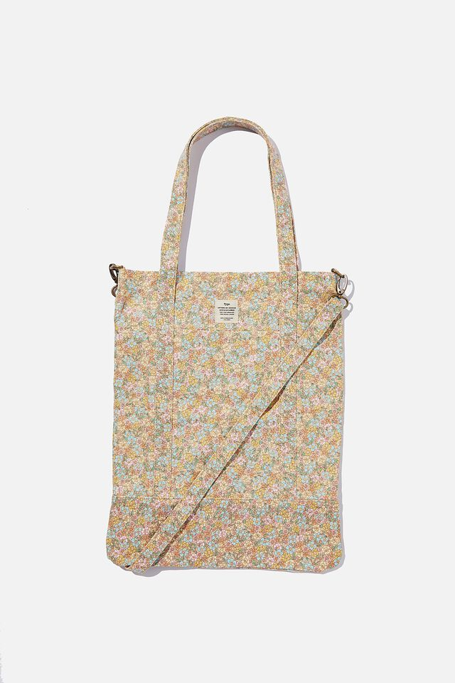Book Tote Bag, DITSY FLORAL SAND